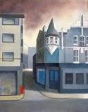 Bar. Ebrington St. by Mike Hanny, Painting, Oil on canvas