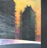 Building Site. The Crescent. by Mike Hanny, Painting, Oil on canvas