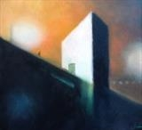 Car Park Dawn by Mike Hanny, Painting, Oil on canvas