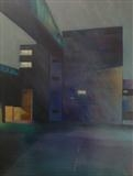 Carpark 1 by Mike Hanny, Painting, Oil on canvas