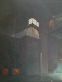 Carpark 2 by Mike Hanny, Painting, Oil on canvas