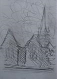 Charles Church by Mike Hanny, Drawing, Pencil
