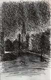 Charles Church. by Mike Hanny, Drawing, Pen on Paper