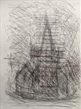 Charles Church. by Mike Hanny, Drawing, Pencil