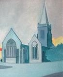 Charles Church by Mike Hanny, Painting, Oil on canvas