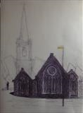Charles Church by Mike Hanny, Drawing, Pen on Paper