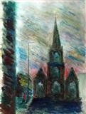 Charles Church by Mike Hanny, Painting, Acrylic on paper