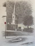 Charles Church by Mike Hanny, Drawing, Charcoal on Paper