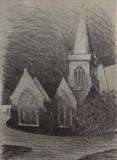 Charles church. Early. by Mike Hanny, Drawing