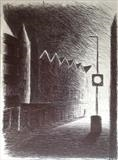 Ebrington St. First Light. by Mike Hanny, Drawing, Pen on Paper