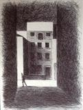 House by Mike Hanny, Drawing, Pen on Paper