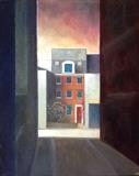 House. Ebrington St. by Mike Hanny, Painting, Oil on canvas