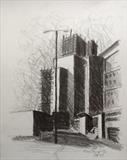 Mayflower St. by Mike Hanny, Drawing, Charcoal on Paper