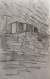 Theatre Royal by Mike Hanny, Drawing, Charcoal on Paper