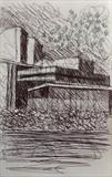Theatre Royal by Mike Hanny, Drawing, Pen on Paper